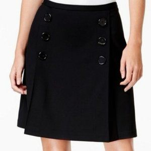Maison Jules black skirt black button knit skirt
